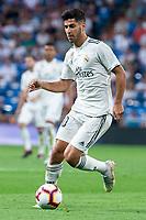 Real Madrid Marco Asensio during La Liga match between Real Madrid and Getafe CF at Santiago Bernabeu in Madrid, Spain. August 19, 2018.  *** Local Caption *** © pixathlon