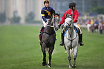 SHA TIN,HONG KONG-MAY 01: Chautauqua ,ridden by Tommy Berry ,is preparing for the Chairman's Sprint Prize  at Sha Tin Racecourse on May 01,2016 in Sha Tin,New Territories,Hong Kong (Photo by Kaz Ishida/Eclipse Sportswire/Getty Images)