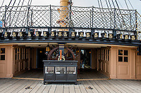 Great Britain, England, London. Portsmouth Historic dockyard. HMS Warrior ship.