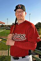 Feb 25, 2010; Kissimmee, FL, USA; The Houston Astros infielder Geoff Blum (27) during photoday at Osceola County Stadium. Mandatory Credit: Tomasso De Rosa/Four Seam Images