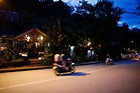 tourist area<br /> in Luang Prabang, Laos.