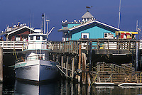 Boat docked at Fisherman's Wharf, Monterey, California