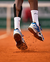 31-05-13, Tennis, France, Paris, Roland Garros,  Gael Monfils serving.