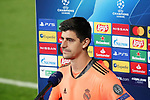 Real Madrid's Thibaut Courtois in press conference after UEFA Champions League match. November 3,2020.(ALTERPHOTOS/Acero)