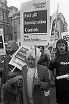 Racism 1970s UK. Asian community march through London to End All Immigration Controls, Stop the Racist Murders under Socialist Workers banners 1976 England