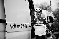 Liege-Bastogne-Liege 2012.98th edition..Jens Voigt in the broomwagon
