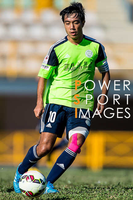 Chi Hing Lui of Wofoo Tai Po in action during the HKFA Premier League between Wofoo Tai Po vs Sun Pegasus at the Tai Po Sports Ground on 22 November 2014 in Hong Kong, China. Photo by Aitor Alcalde / Power Sport Images