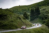 stage winner Dylan Teuns (BEL/Bahrain-Victorius) descending the Col de la Colombière (1618 m)<br /> <br /> Stage 8 from Oyonnax to Le Grand-Bornand (151km)<br /> 108th Tour de France 2021 (2.UWT)<br /> <br /> ©kramon