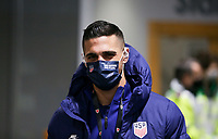 SWANSEA, WALES - NOVEMBER 12: Sebastian Lletget #17 of the United States men's national team arrives at Liberty stadium before a game between Wales and USMNT at Liberty Stadium on November 12, 2020 in Swansea, Wales.