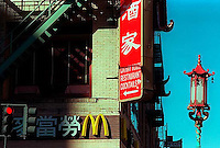 Signs in Chinatown, 1987./  &#xA;<br />