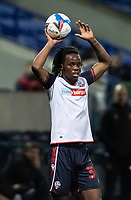 Bolton Wanderers' Peter Kioso prepares to take a throw-in<br /> <br /> Photographer Andrew Kearns/CameraSport<br /> <br /> The EFL Sky Bet League Two - Bolton Wanderers v Mansfield Town - Tuesday 3rd November 2020 - University of Bolton Stadium - Bolton<br /> <br /> World Copyright © 2020 CameraSport. All rights reserved. 43 Linden Ave. Countesthorpe. Leicester. England. LE8 5PG - Tel: +44 (0) 116 277 4147 - admin@camerasport.com - www.camerasport.com