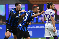 26th September 2020, San Siro Stadium, Milan, Italy; Serie A Football, Inter Milan versus Fiorentina;  Danilo D Ambrosio celebrates his goal