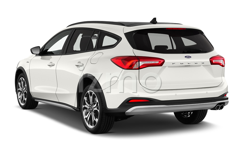 Car pictures of rear three quarter view of a 2019 Ford Focus-Clipper Active-Business 5 Door Wagon angular rear