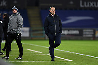 Steve Cooper Head Coach of Swansea City in action during the Sky Bet Championship match between Swansea City and Norwich City at the Liberty Stadium in Swansea, Wales, UK. Friday 05 February 2021