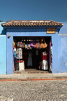 A local clothing store in Antigua, a UNESCO World Heritage Site in Guatemala
