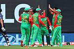 Bangladesh celebrate taking Calum McLeod's wicket. ICC Cricket World Cup 2015, Bangladesh v Scotland, 5 March 2015,  Saxton Oval, Nelson, New Zealand, <br /> Photo: Marc Palmano/shuttersport.co.nz