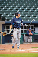 Corpus Christi Hooks outfielder Chas McCormick (20) steps to the plate for an at-bat Wednesday, May 1, 2019, at Arvest Ballpark in Springdale, Arkansas. (Jason Ivester/Four Seam Images)