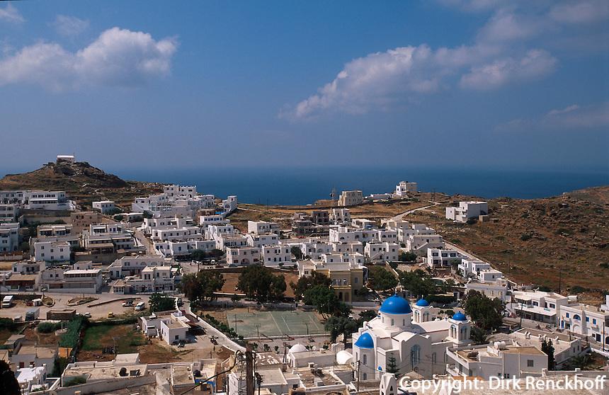 Blick auf Chora auf der Insel Ios, Griechenland, Europa