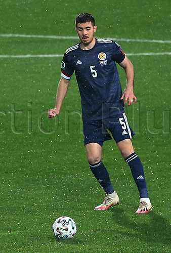 12th November 2020; Belgrade, Serbia; European International Football Playfoff Final, Serbia versus Scotland;  Declan Gallagher Scotland looks for a passing outlet