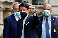 Italian Prime Minister Giuseppe Conte enters the Senate for the information on the new European Council. Rome (Italy) June 17th 2017<br /> Samantha Zucchi Insidefoto