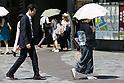 Summer heat in Tokyo