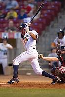 Cedar Rapids Kernels outfielder Byron Buxton #7 bats during a game against the Lansing Lugnuts at Veterans Memorial Stadium on April 29, 2013 in Cedar Rapids, Iowa. (Brace Hemmelgarn/Four Seam Images)