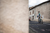 Lukas Pöstlberger (AUT/Bora Hansgrohe) trying to force a solo escape from the break away group. <br /> <br /> Stage 9: Saint-Étienne to Brioude (170km)<br /> 106th Tour de France 2019 (2.UWT)<br /> <br /> ©kramon