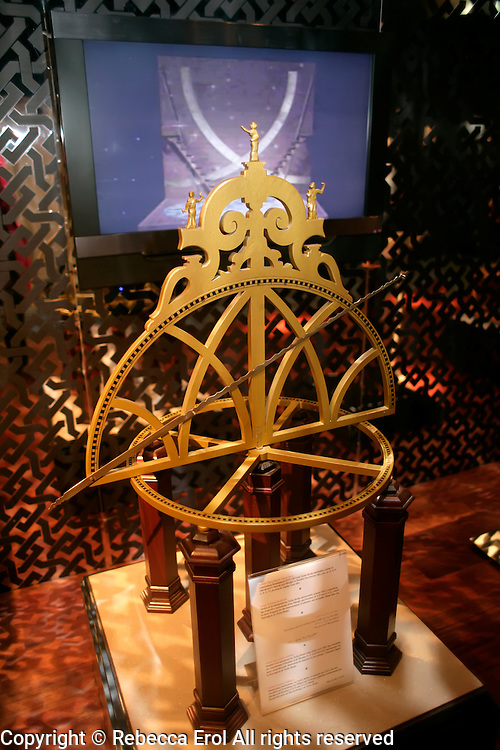 Large Azimuth Semicircle at the Museum of the History of Islamic Science and Technology, Istanbul, Turkey. Model of an instrument by Tycho Brache (c1587) designed to measure altitude and azimuths