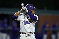 Pascanel Ferreras (1) of the Western Carolina Catamounts at bat against the St. John's Red Storm at Childress Field on March 13, 2021 in Cullowhee, North Carolina. (Brian Westerholt/Four Seam Images)