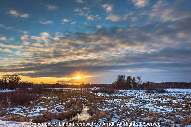Sunset at Crex Meadows State Wildlife Area in northwestern Wisconsin.