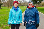 Enjoying a stroll in Tralee town park on Tuesday, l to r: Nuala O'Brien and Joan Lyons