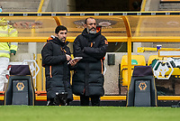 23rd May 2021; Molineux Stadium, Wolverhampton, West Midlands, England; English Premier League Football, Wolverhampton Wanderers versus Manchester United; Nuno Manager of Wolverhampton Wanderers discusses strategy late in the game