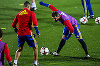 Spainsh Nacho Fernandez during the training of the spanish national football team in the city of football of Las Rozas in Madrid, Spain. November 08, 2016. (ALTERPHOTOS/Rodrigo Jimenez) ///NORTEPHOTO.COM