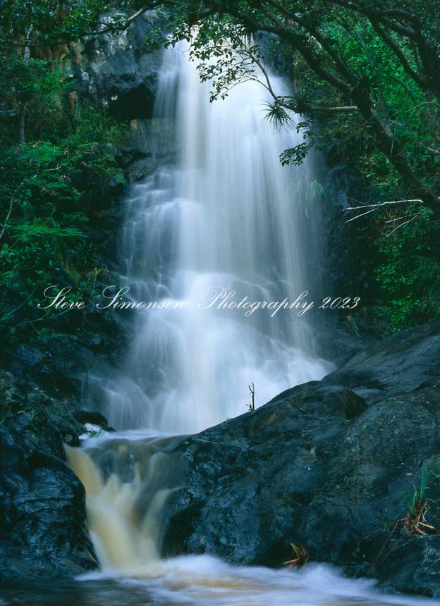Reef Bay Waterfall after a heavy rain<br /> Virgin Islands National Park<br /> St. John<br /> U.S. Virgin Islands