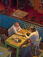 Café Bazar in  ehemaliger Kirche am Albert Cuyp Markt, Amsterdam, Provinz Nordholland, Niederlande<br /> Café Bazar in  former Kirche at Albert Cuyp Market, Amsterdam, Province North Holland, Netherlands