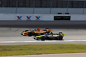 #28: Ryan Hunter-Reay, Andretti Autosport Honda, #18: Santino Ferrucci, Dale Coyne Racing with Vasser Sullivan Honda