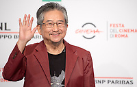 "Il fumettista e scrittore giapponese Go Nagai posa durante un photocall per la presentazione del film ""Mazinga Z Infinity"" alla Festa del Cinema di Roma , 27 0ttobre 2017.<br /> Japanese cartoonist and writer and Go Nagai  poses for a photocall to present the movie ""Mazinga Z Infinity"""" during the international Rome Film Festival at Rome's Auditorium, October 27, 2017.<br /> UPDATE IMAGES PRESS"