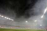 Smoke produced by flares launched into the field by fans of Benfica during Champions League 2015/2016 match. September 30,2015. (ALTERPHOTOS/Acero)