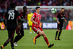 Bayern Munich Forward Robert Lewandowski (R) in action against AC Milan Defender Cristian Zapata (L) during the 2017 International Champions Cup China  match between FC Bayern and AC Milan at Universiade Sports Centre Stadium on July 22, 2017 in Shenzhen, China. Photo by Marcio Rodrigo Machado / Power Sport Images