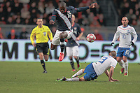 Jozy Altidore avoids a tackle..The USA men fell to the Netherlands 2-1 at Amsterdam ArenA, Wednesday, March 3, 2010.