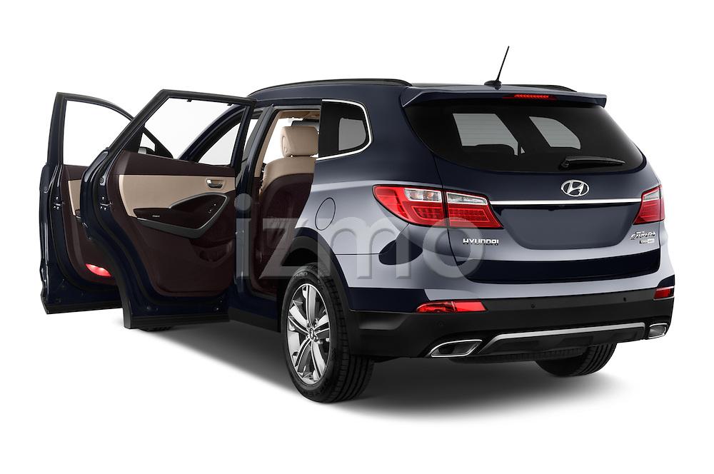 Car images close up view of a 2015 Hyundai Grand Santa Fe Executive 5 Door SUV doors