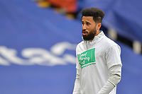 Andros Townsend of Crystal Palace warms up before  the Premier League behind closed doors match between Crystal Palace and Fulham at Selhurst Park, London, England on 28 February 2021. Photo by Vince Mignott / PRiME Media Images.
