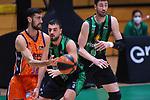 Liga ENDESA 2020/2021. Game: 11.<br /> Club Joventut Badalona vs Valencia Basket: 80-91.<br /> Joan Sastre vs Albert Ventura.