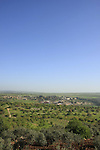 Israel, Jezreel valley. A view of Lower Galilee from Mount Tabor