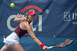 July 22,2016:   Kristina Mladenovic (FRA) loses to Yanina Wickmayer (BEL) 4-6, 6-3, 6-4, at the Citi Open being played at Rock Creek Park Tennis Center in Washington, DC, .  ©Leslie Billman/Tennisclix