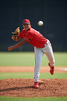 GCL Phillies East pitcher Maikel Garrido (68) during a Gulf Coast League game against the GCL Yankees East on July 31, 2019 at Yankees Minor League Complex in Tampa, Florida.  GCL Yankees East defeated the GCL Phillies East 11-0 in the first game of a doubleheader.  (Mike Janes/Four Seam Images)