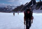 Climbing team, North Cascades National Park, National Outdoor Leadership School climbers, Cascade Mountains, Washington State, Pacific Northwest, U.S.A.,.