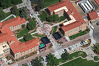 University of Colorado at Boulder, aerial of campus. Sept 3, 2015