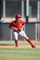Los Angeles Angels of Anaheim Cody Ramer (20) during an Instructional League game against the San Francisco Giants on October 13, 2016 at the Tempe Diablo Stadium Complex in Tempe, Arizona.  (Mike Janes/Four Seam Images)
