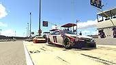 #11: Denny Hamlin, Joe Gibbs Racing, Toyota Camry pit stop<br /> <br /> (MEDIA: EDITORIAL USE ONLY) (This image is from the iRacing computer game)
